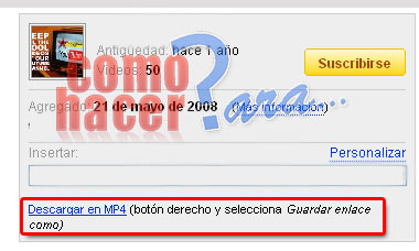 Como descargar videos de youtube en MP4